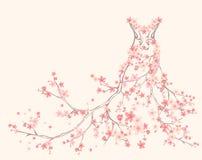 Платье весны иллюстрация вектора