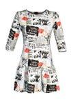 Платье газеты ` s женщин Стоковая Фотография RF