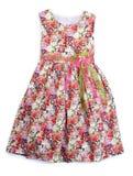 Платье детей для девушек на предпосылке Стоковое фото RF