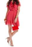 Платье женщины вкратце вскользь Стоковое фото RF