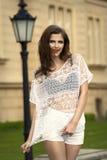 Платье женщины моды вскользь Стоковые Фотографии RF