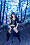 Платье и шпага фантазии сексуальное Стоковое Фото