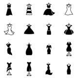 Платье на вешалке Иллюстрация штока