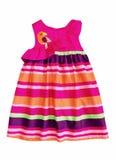 Платье ребёнка лета изолированное на белизне. Стоковое Изображение