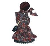Платье света маленькой девочки Стоковая Фотография