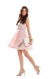 Платье семг женщины вкратце Стоковые Фото