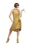 Платье танцора язычка женщины 20s реветь Стоковые Изображения