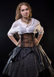 Платье фантазии женщины нося стоковое фото