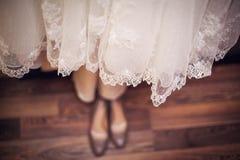 Платье bridesmaid шнурка Стоковое Изображение RF