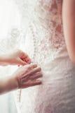 Платье bridesmaid шнурка Стоковые Фотографии RF