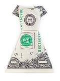 Платье origami доллара изолированное на белой предпосылке Стоковое Изображение