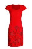Платье ` s женщин красное стоковое фото