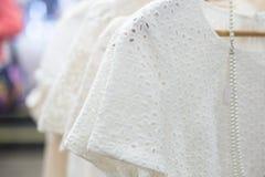 Платья в магазине Стоковые Изображения
