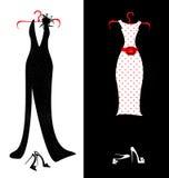Платья и ботинки Стоковые Фотографии RF