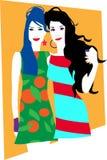 Платья и Gals стоковая фотография rf