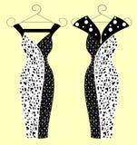 Платья моды для иллюстраций женщин Стоковые Фотографии RF
