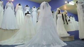Платья свадьбы Красивое движение слайдера видеоматериал