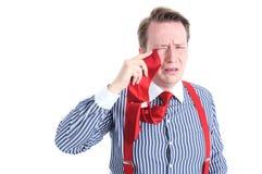 Плача бизнесмен стоковая фотография