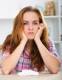 плача девушка унылая Стоковое Изображение