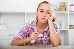 плача девушка унылая Стоковое Фото