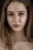 плача унылая женщина Стоковые Фото