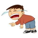 Плача шарж мальчика иллюстрация вектора