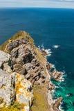 Плаща-накидк хорошей надежды. Полуостров Атлантический океан плащи-накидк. Кейптаун. Южная Африка Стоковая Фотография
