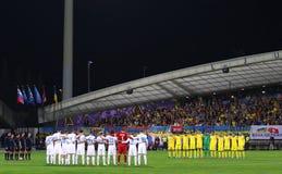 Плей-офф 2016 ЕВРО UEFA для выпускных экзаменов: Словения v Украина Стоковые Изображения RF