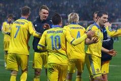 Плей-офф 2016 ЕВРО UEFA для выпускных экзаменов: Словения v Украина Стоковые Изображения