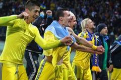 Плей-офф 2016 ЕВРО UEFA для выпускных экзаменов: Словения v Украина Стоковые Фото