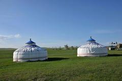 Племена Монгол степи Khan учета берега реки Mergel монгольские Стоковая Фотография
