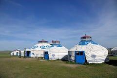 Племена Монгол степи Khan учета берега реки Mergel монгольские Стоковое Изображение RF