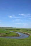 Племена степи Khan золотой орды берега реки Mergel монгольские Стоковое Изображение RF