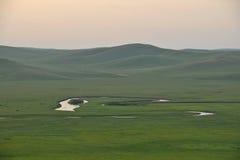 Племена степи Khan золотой орды берега реки Mergel монгольские Стоковые Изображения