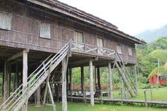 Племенная архитектура longhouse Стоковое Изображение