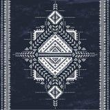 Племенная ацтекская винтажная безшовная картина Стоковая Фотография