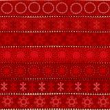 Племенная безшовная картина рождества Стоковое Изображение RF