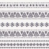 Племенная безшовная предпосылка с круглым геометрическим орнаментом иллюстрация штока