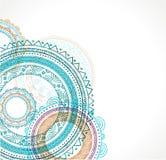 Племенная богемская предпосылка мандалы с круглой Стоковое фото RF