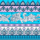Племенная винтажная этническая картина безшовная Стоковое Изображение RF
