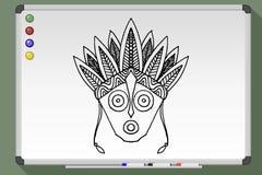 Племенная маска этническая стоковые фотографии rf