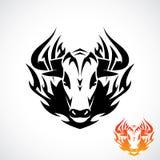 Племенная татуировка быка Стоковое Фото