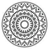 Племенная фольклорная ацтекская геометрическая картина в круге