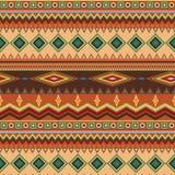 Племенная этническая безшовная картина нашивки на оранжевой предпосылке Стоковые Фотографии RF