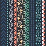 Племенная striped безшовная картина. иллюстрация вектора