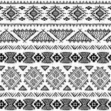 Племенное винтажное этническое безшовное Стоковая Фотография RF
