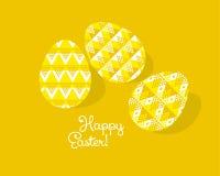 Племенное украшение пасхального яйца концепции геометрии Стоковая Фотография RF