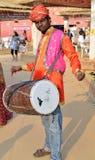Племенной барабанщик - Dholi Стоковые Изображения