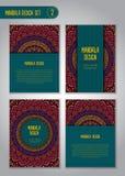 Племенной комплект дизайна мандалы декоративный сбор винограда элементов Стоковое фото RF