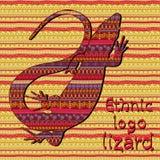 Племенной логотип ящерицы Стоковые Фото